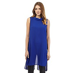 Principles by Ben de Lisi - Blue longline roll neck tunic
