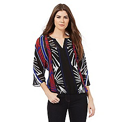 Principles by Ben de Lisi - Bright blue retro leaf blouse