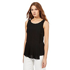 Principles by Ben de Lisi - Black layered pleated hem top