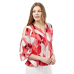 Principles by Ben de Lisi - Pink retro print blouse