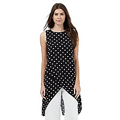 Principles by Ben de Lisi - Black longline polka dot top