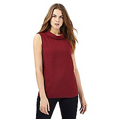 Principles by Ben de Lisi - Dark red roll neck shell top