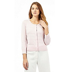 Principles by Ben de Lisi - Pale pink ribbed cardigan