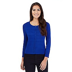 Principles by Ben de Lisi - Bright blue ribbed cardigan