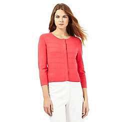 Principles by Ben de Lisi - Pink ribbed cardigan