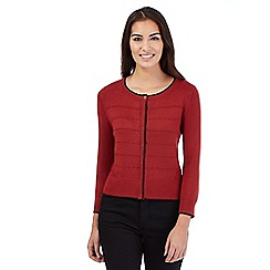 Principles Petite by Ben de Lisi - Red ribbed cardigan