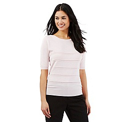 Principles by Ben de Lisi - Pale pink pointelle jumper