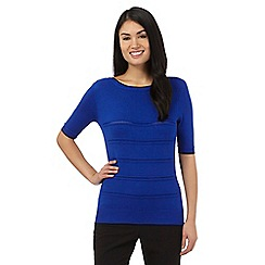 Principles by Ben de Lisi - Bright blue pointelle jumper