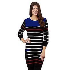 Principles by Ben de Lisi - Black striped yoke tunic