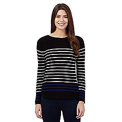 Principles by Ben de Lisi - Black chunky striped jumper