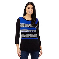 Principles Petite by Ben de Lisi - Black Aztec jumper