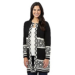 Principles Petite by Ben de Lisi - Black geometric cardigan