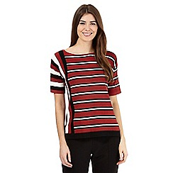Principles by Ben de Lisi - Red brick striped jumper