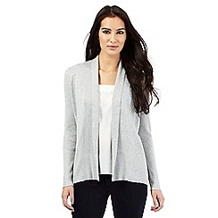 Principles Petite by Ben de Lisi - Grey edge to edge cardigan