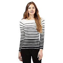 Principles by Ben de Lisi - Ivory striped print jumper