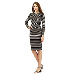 Principles by Ben de Lisi - Black striped print jersey dress