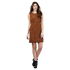 Principles by Ben de Lisi - Tan suede tailored dress