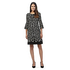 Principles by Ben de Lisi - Black geometric print dress