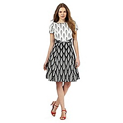 Principles by Ben de Lisi - Black and white diamond print dress
