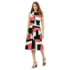 Principles by Ben de Lisi - Pink retro print dress
