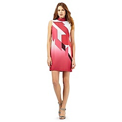 Principles Petite by Ben de Lisi - Pink retro print dress