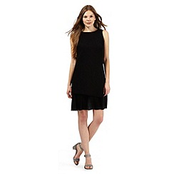 Principles by Ben de Lisi - Black layered pleated hem dress