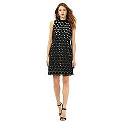 Principles Petite by Ben de Lisi - Black circle lace dress