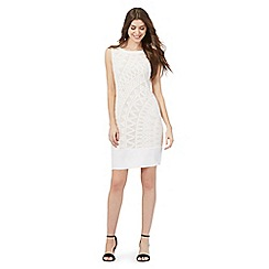 Principles by Ben de Lisi - Ivory Aztec lace dress