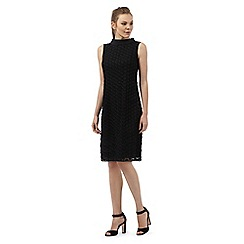 Principles by Ben de Lisi - Black disc applique shift dress