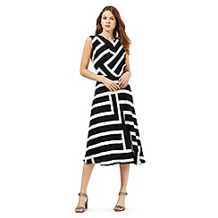 Principles by Ben de Lisi - Black striped print dress