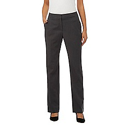 Principles Petite by Ben de Lisi - Dark grey straight leg trousers