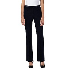 Principles Petite by Ben de Lisi - Navy straight leg smart trousers