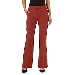 Principles by Ben de Lisi - Red brick kick flare trousers