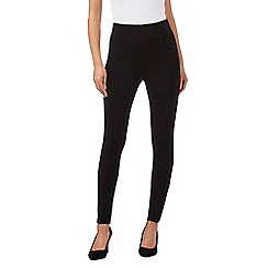 Principles by Ben de Lisi - Black seamed ponte leggings