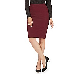 Principles by Ben de Lisi - Dark red slim skirt