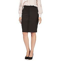 Principles by Ben de Lisi - Dark grey pinstripe print skirt