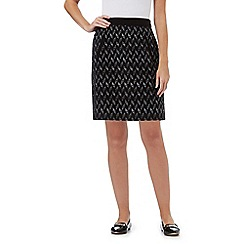 Principles Petite by Ben de Lisi - Black jacquard mini skirt