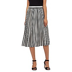 Principles by Ben de Lisi - Black striped print skirt