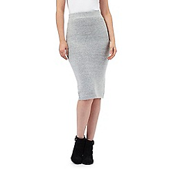 Principles by Ben de Lisi - Grey salt and pepper knitted skirt
