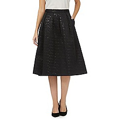 Principles by Ben de Lisi - Black jacquard full skirt