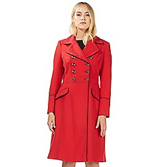 Principles by Ben de Lisi - Red military stitch detail coat