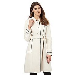 Principles Petite by Ben de Lisi - Cream contrasting trim mac coat