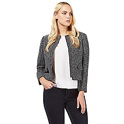 Principles by Ben de Lisi - Dark grey boxy textured jacket