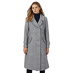 Principles Petite by Ben de Lisi - Grey military coat with wool