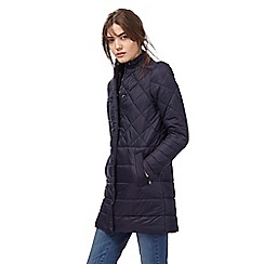 Principles Petite by Ben de Lisi - Navy quilted padded jacket