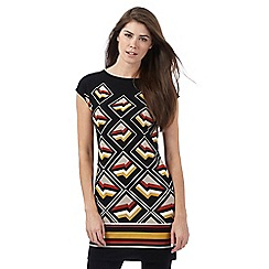 Principles by Ben de Lisi - Black geometric print tunic