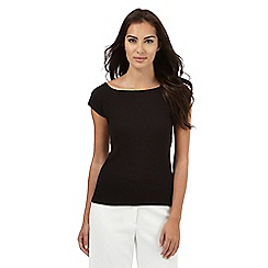 Principles by Ben de Lisi - Black ribbed bardot top