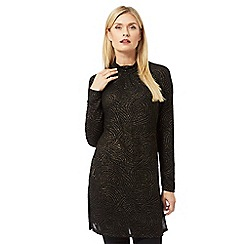 Principles by Ben de Lisi - Black glitter swirl tunic dress