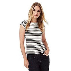 Principles by Ben de Lisi - Multi-coloured striped print ribbed top