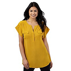 Principles by Ben de Lisi - Dark yellow dipped hem blouse